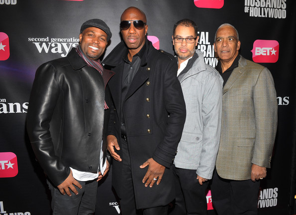 "BET Networks New York Premiere Of ""Real Husbands of Hollywood"" And ""Second Generation Wayans"" [real husbands of hollywood,second generation wayans,premiere,event,suit,brand,performance,stan lathan,jesse collins,jb smoove,chris spencer,new york,sva theater,bet networks,premiere]"