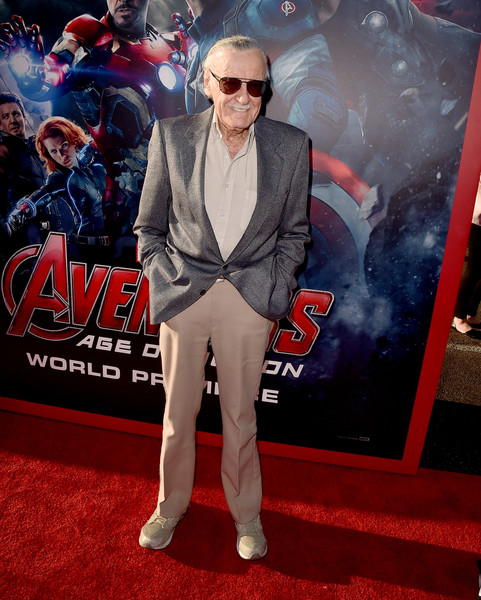 Premiere Of Marvel's 'Avengers: Age Of Ultron' - Red Carpet [avengers: age of ultron,red carpet,red carpet,carpet,premiere,eyewear,fashion,flooring,public event,suit,event,fictional character,stan lee,executive producer,dolby theatre,california,hollywood,marvel,premiere]