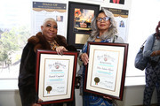 Luenell and Laura Hayes attend the Stand UP: The Art And Politics Of Comedy Opens The City Of Los Angeles' Black History Month Celebration at Los Angeles City Hall on February 04, 2020 in Los Angeles, California.