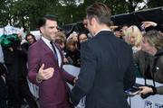 "Zachary Quinto and Chris Pine attends the UK Premiere of Paramount Pictures ""Star Trek Beyond"" at the Empire Leicester Square on July 12, 2016 in London, England."