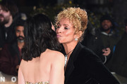 """Isa Briones and Michelle Hurd on the red carpet during the """"Star Trek Picard"""" UK Premiere at Odeon Luxe Leicester Square on January 15, 2020 in London, England."""