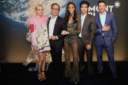 Diane Kruger, Nicolas Baretzki, Winnie Harlow, Charles Melton and Hugh Jackman attend StarWalker Montblanc Cocktail At Lone Star Flight Museum on June 11, 2019 in Houston, Texas.