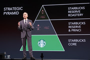 Starbucks Executive Chairman Howard Schultz speaks during the Starbucks Annual Shareholders Meeting at McCaw Hall, on March 21, 2018 in Seattle, Washington. Schultz detailed plans for the company's Roasteries throughout the world.