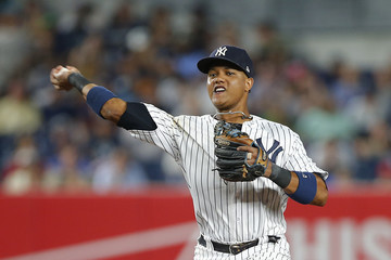 Starlin Castro Los Angeles Angels of Anaheim v New York Yankees