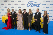 (L-R) Nicole Kimpel, Antonio Banderas, Sandra Garcia San Juan, Juanes, Barbara Kimpel, Jesus Alonso and Cristina del Rey attend the Starlite Gala on August 11, 2018 in Marbella, Spain.