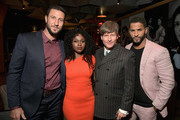 (L-R) Pablo Schreiber, Yetide Badaki, Crispin Glover and Ricky Whittle attend the Starz 2019 Winter TCA Panel & All-Star After Party on February 12, 2019 in Los Angeles, California.