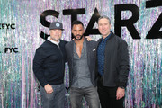(L-R) Executive Producer Craig Cegielski, Ricky Whittle and STARZ President of Programming Carmi Zlotnik attend Starz FYC 2019 — Where Creativity, Culture and Conversations Collide on June 02, 2019 at Westfield Century City in Century City, California.