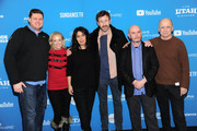 """Kristin Jones,  Chris O'Dowd, Nick Hornby, and David Madden attend """"State Of The Union"""" Red Carpet at The Ray on January 28, 2019 in Park City, Utah."""