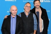 """Nick Hornby, John Cooper, and Chris O'Dowd attends """"State Of The Union"""" Red Carpet at The Ray on January 28, 2019 in Park City, Utah."""