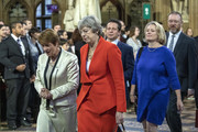 Former PM Theresa May attends the State Opening of Parliament at the Palace of Westminster on October 14, 2019 in London, England. The Queen's speech is expected to announce plans to end the free movement of EU citizens to the UK after Brexit, new laws on crime, health and the environment.