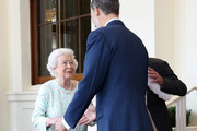Queen Elizabeth II greets  King Felipe VI of Spain during a State visit by the King and Queen of Spain on July 14, 2017 in London, England.  This is the first state visit by the current King Felipe and Queen Letizia, the last being in 1986 with King Juan Carlos and Queen Sofia.