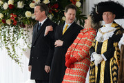 Home Secretary Theresa May (2nd R) stands with Prime Minister David Cameron (L) and Deputy Prime Minister Nick Clegg (2nd L) before the arrival of the President of Mexico, Enrique Pena Nieto and his wife Angelica Rivera at Horse Guards Parade on March 3, 2015 in London, England.  The President of Mexico, accompanied by Senora Angelica Rivera de Pena, are on a State Visit to the United Kingdom as the guests of Her Majesty The Queen from Tuesday 3rd March to Thursday 5th March.
