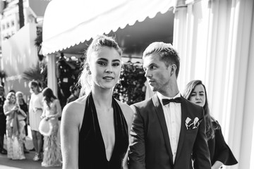 Stefanie Giesinger L'Oreal at the 70th Cannes Film Festival B&W - #Canniversary