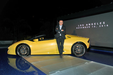 Stefano Domenicali Lamborghini Hosts Global Debut of the Huracan RWD Spyder