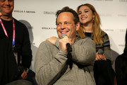 "Vince Vaughn speaks onstage during the Stella Artois & Deadline Sundance Series at Stella's Film Lounge: A Live Q&A with the filmmakers and cast of ""Fighting With My Family"" at Stella's Film Lounge on January 28, 2019 in Park City, Utah."