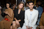 (EDITORIAL USE ONLY) Constance Jablonski and Samy attend the Stella McCartney show as part of the Paris Fashion Week Womenswear Fall/Winter 2020/2021 on March 02, 2020 in Paris, France.