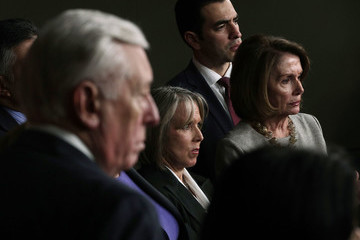 Steny Hoyer Pelosi, House Democrats Hold Press Conference After Meeting With ICE Director