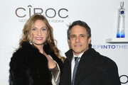 """Heather Thomson and Jonathan Schindler attend CIROC's """"Step Into The Circle"""" Launch hosted by Sean Diddy Combs in Times Square on November 19, 2014 in New York City."""