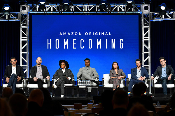 2020 Winter TCA Tour - Day 8 [event,convention,news conference,academic conference,stage,performance,stage equipment,sam esmail,kyle patrick alvarez,janelle monae,eli horowitz,micah bloomberg,hong chau,stephan james,pasadena,amazon prime,winter tca,micah bloomberg,homecoming,stock photography,photograph,getty images,photography,image,shutterstock]