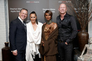(L-R) Joel Towers, Donna Karan, Iman, and Jimmy Nelson attend the Stephan Weiss Apple Awards at Urban Zen on October 24, 2018 in New York City.