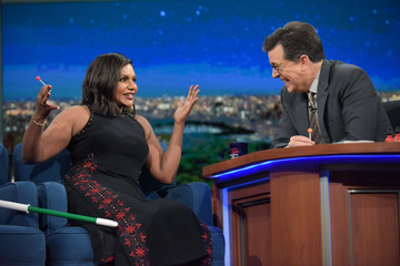 """Stephen Colbert Mindy Kaling CBS's """"The Late Show with Stephen Colbert"""" - Season Two"""