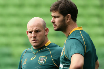 Stephen Moore Australian Wallabies Captains Run