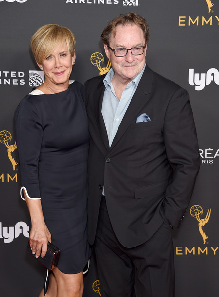 Television Academy Honors Emmy Nominated Performers - Arrivals [suit,hairstyle,premiere,formal wear,dress,tuxedo,event,little black dress,white-collar worker,carpet,arrivals,performers,stephen root,romy rosemont,wallis annenberg center for the performing arts,beverly hills,california,television academy honors emmy]