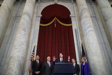 Steve Daines Leading Bipartisan Senators Hold Press Conference On Section 702 FISA Reform
