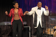 Journalist Robin Roberts and host Steve Harvey dance at at the New York Gala benefiting The Steve Harvey Foundation at Cipriani, Wall Street on May 3, 2010 in New York City.