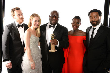 Steve McQueen Lupita Nyong'o Backstage Portraits at the Golden Globe Awards