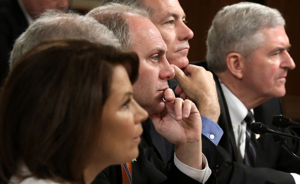 House Committee Holds Hearing on Debt Limit [event,gesture,r,michele bachmann,steve scalise,daniel webster,david schweikert,house ways and means committee holds hearing on statutory debt limit,l-r,u.s.,government,u.s. treasury]
