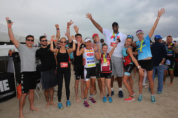 Steven McQueen Celebrities Take Part in Life Time South Beach Triathlon