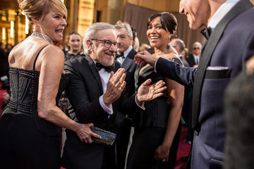 Steven Spielberg Daniel Day-Lewis 85th Annual Academy Awards - Red Carpet