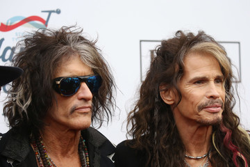 Steven Tyler Joe Perry Steven Tyler's Grammy Awards Viewing Party Benefiting Janie's Fund - Arrivals