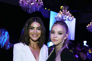 (L-R) Camila Coelho and Sydney Sweeney attend Steven Tyler's Third Annual GRAMMY Awards Viewing Party to benefit Janie's Fund presented by Live Nation at Raleigh Studios on January 26, 2020 in Los Angeles, California.