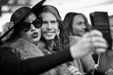 "Steven Tyler TASCHEN And David Bailey Celebrate ""It's Just A Shot Away: The Rolling Stones In Photographs"" At The TASCHEN Gallery"