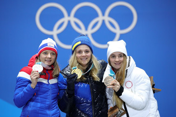 Stina Nilsson Medal Ceremony - Winter Olympics Day 5