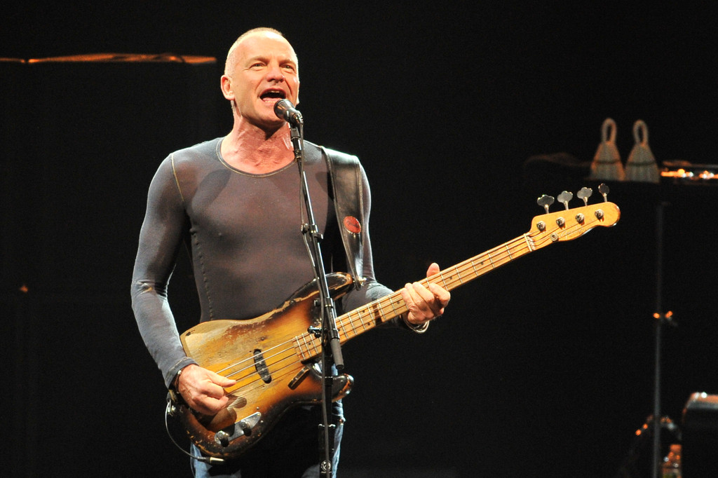 sting in sting 39 s back to bass tour opening night zimbio. Black Bedroom Furniture Sets. Home Design Ideas