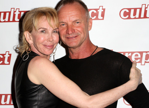 Sting trudie styler and husband sting arrive at the opening night of