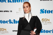 """Actress  Noomi Rapace attends the """"Stockholm"""" New York Premiere at Museum of Modern Art on April 11, 2019 in New York City."""