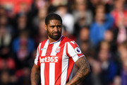 Glen Johnson of Stoke City during the Premier League match between Stoke City and Arsenal at Bet365 Stadium on May 13, 2017 in Stoke on Trent, England.