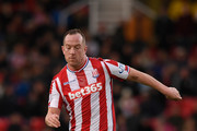 Stoke player Charlie Adam in action during the Premier League match between Stoke City and Newcastle United at Bet365 Stadium on January 1, 2018 in Stoke on Trent, England.