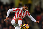 Glen Johnson of Stoke City in action during the Premier League match between Stoke City and Southampton at Bet365 Stadium on December 14, 2016 in Stoke on Trent, England.