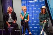 """(L-R) Philip Sweet, Kimberly Schlapman and Karen Fairchild of Little Big Town visit a special CMA Fest edition of the """"Storme Warren Show"""" hosted by Storme Warren on SiriusXM's The Highway Channel at at SiriusXM Nashville Studios at Bridgestone Arena on June 07, 2019 in Nashville, Tennessee."""