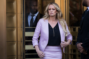 Stormy Daniels Trump's Personal Lawyer Michael Cohen Appears For Court Hearing Related To FBI Raid On His Hotel Room And Office
