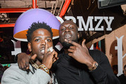 Casanova (L) and Stormzy attend the Stormzy Heavy Is the Head Album Event on January 13, 2020 in New York City.