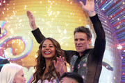 Viscountess Emma Weymouth and James Cracknell on stage at the 'Strictly Come Dancing' launch show at Television Centre on August 26, 2019 in London, England.