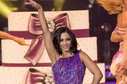 Frankie Bridge  dancing during a photocall for the Strictly Come Dancing Live Tour 2016 at Barclaycard Arena on January 21, 2016 in Birmingham, England.