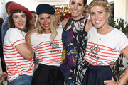 """(L-R) Jenn Streicher, Kristie Streicher, TV personality Louise Roe and Ashley Streicher attend a celebration with Striiike and Caudalie for """"The French Beauty Solution"""" on Bastille Day at Striiike on July 14, 2015 in Beverly Hills, California."""