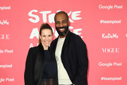 Alexandra Neldel and Chris Glass attend the 'Strike A Pose - Weekend En Vogue' event at KaDeWe on October 12, 2018 in Berlin, Germany.